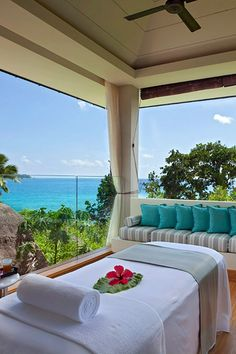 Raffles Praslin Seychelles is a winner in the Trip of a Lifetime category. It's remote, yet accessible. Seychelles Resorts, Seychelles Africa, Praslin Seychelles, All Inclusive Vacations, Hotels And Resorts, Dream Vacations, Best Hotels, Country Retreats, Cheap Accommodation