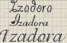 Plena Art's, Bordados em Ponto Cruz: Letra I