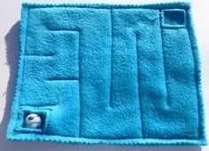 A maze as part of a fidget quilt