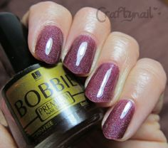 Bobbie holo nail polish in Mojito