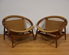 Ringstol Lounge Chairs by Illum Wikkelsø - A Pair