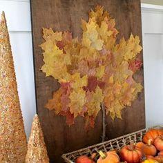 Leaf Art {Thanksgiving Art Project}