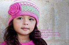 Pretty in Pink Beanie  Crochet Pattern No.P114 by bubnutPatterns, $4.00