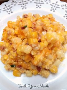 Corn Casserole with Cheese & Bacon