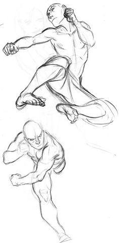 flyingsidekick.jpg Character Sketch / Drawing Design Illustration Inspiration