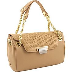 KORET new york Perforate Leather Quarter Flap Satchel - Camel - via eBags.com!