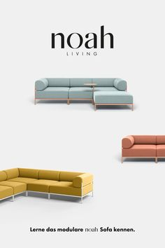 Bestellung aus der Schweiz via E-Mail: hello@noah-living.com // Mit seinem modularen Design passt sich das Noah Sofa jedem Wohnzimmer an. Ob Ecksofa, Schlafsofa oder 2-Sitzer - durch das einfache Stecksystem lässt es sich flexibel verändern. Die waschbaren Bezüge sind in 14 Farben erhältlich und wechselbar. Wähle eine der vielen Kombinationen und entdecke das perfekte Sofa für dein Raumkonzept. // Versand inkl. Verzollung auf Anfrage. #noahsofa #modularsofa #madeingermany #nachhaltigesdesign Simple Furniture, Sofa Furniture, Furniture Design, Nachhaltiges Design, Sofa Design, Sofa Inspiration, Living Room Inspiration, Living Room Designs India, Man Crates