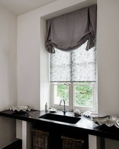 """61 Likes, 5 Comments - The Shade Store (The Shade Store) on Instagram: """"Tulip Roman Shades are a great decorative accent for the #powderroom. Enjoy 15% off #RomanShades…"""""""