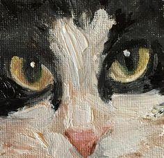 "Daily Paintworks - ""Tuxedo selfie"" - Original Fine Art for Sale - © Annette Balesteri"