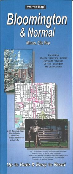 Bloomington and Normal, Illinois by The Seeger Map Company Inc.
