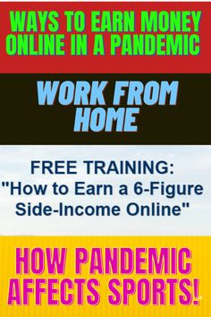 Ways to earn money online in a pandemic. legit ways to earn money online Effect of lockdown in sports. Make Money Online Quickly, The Covid-19 pandemic has put the sports economy to a shivering stop. Side Hustling to Earn Extra Money,  lockdown and its extra restrictions ruin the destiny of clubs, foundations, groups, bolster staff, all the people who help move the wheels of sport. how to make money from home AND how to earn PayPal money fast, there are legit ways to earn extra money Ways To Earn Money, Earn Money Online, New Things To Learn, Cool Things To Buy, Make Money From Home, How To Make Money, Meaningful Quotes, Inspirational Quotes, Some Love Quotes
