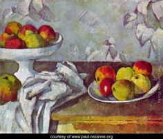 Still life with apples and fruit bowl, Paul Cezanne