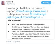 2019 Apr 13 at Directions to Belmarsh prison Chelsea Manning, Wise Up, Prison, Twitter Sign Up, The Outsiders, How To Get, Shit Happens, Street