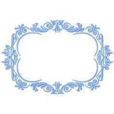 Gosia Embroidery Embroidery Design: Fancy Frame 3.66 inches H x 5.50 inches W