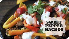 Baked Sweet Pepper Nachos  | Subscribe: http://youtube.com/PepperScraps