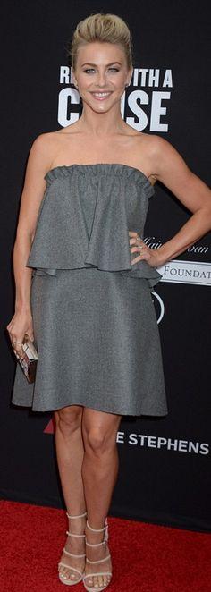 Julianne Hough:Dress – Milly  Purse – Lee Savage  Jewelry – Dana Rebecca Designs  Shoes – Stuart Weitzman