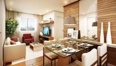 Decoração de Sala Pequena + 100 idéias p/ Apartamento Pequeno