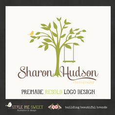 Premade Photography Logo Silhouette Tree by stylemesweetdesign, holy crap my moms former name!