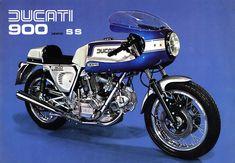 Ducati 900 SS 1975 Original Poster