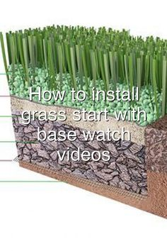 How to install artificial grass start with the base watch installation videos#123 Astro Turf Garden, Hydraulic Cars, Artificial Grass Installation, Base, Watches, Videos, Clocks, Clock, Video Clip