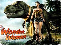 Wonder Woman Dinosaur Island by JPRart.deviantart.com on @DeviantArt