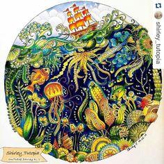 """389 Likes, 5 Comments - Desenhos Colorir (@desenhoscolorir) on Instagram: """"Wow que espetáculo de pintura! By @shirley_tutopia  #oceanoperdido  #desenhoscolorir #lostocean…"""""""