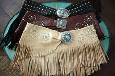 I think these fringe belts would be cute over jeans or jean shorts