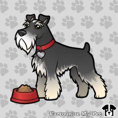 Cartoon Schnauzer designed by a visitor to CartoonizeMyPet.com