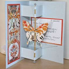 Butterfly twirl Card by Linda.Ola - Cards and Paper Crafts at Splitcoaststampers. Check the link in comments for the tutorial and another version of the card.