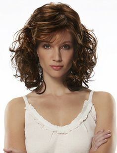 Unique Honorable Medium Jon Renau Bright Brown Wavy Venation Hairstyle Capless Human Hair Top Quality Popular Wig About 16 Inches