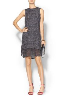 Theory Hassil C. Black all over print Silk Dress at Piperlime