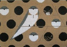 Imagine the fun stitches. Charley Harper Needlepoint Bank Swallow.