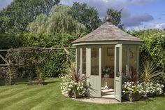Burghley nestled in a beautiful garden in Leicestershire. Small Summer House, Corner Summer House, Summer House Garden, Summer Houses, Backyard Retreat, Backyard Patio, Backyard Landscaping, Cottage Garden Design, Garden Design Plans
