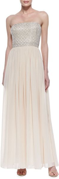 Love this: Strapless Beadedbodice Gown Blush @Lyst