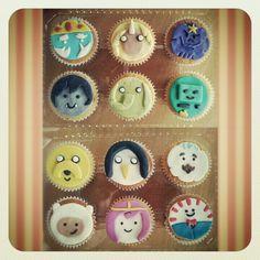 Adventure time cupcakes <3
