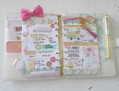 Hello! I so enjoy seeing all your pics! So much creativity! In my spread for last week I include a bow paper clip & charms.#planners #recollectionsplanner #recollectionswashi #mymichaels