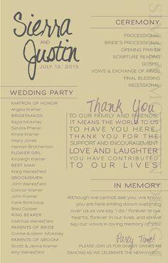 modern wedding ceremony program PRINTABLE by xSimplyModernDesignx, $26.00 by erin