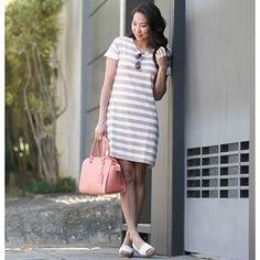 Look do dia inspirador com a tendência dos t-shirt dresses! Vestido super clean…