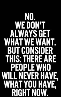There are people who never have