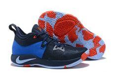2a409715f5f New Style Nike PG 2 Paul George OKC Home Dark Obsidian Silver AJ2040 400  Men s Basketball