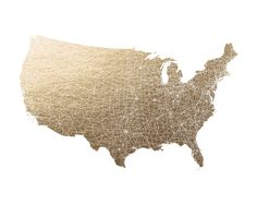 United States Map Filled by GeekInk Design for Minted-want this for Christmas!