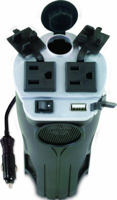 Rally 7413 200W Cup Holder Power Inverter with USB Port : Amazon.com : Automotive
