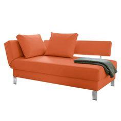 Recamiere Athmos (mit Schlaffunktion) Kunstleder - Armlehne davorstehend links - Orange, loftscape Jetzt bestellen unter: https://moebel.ladendirekt.de/wohnzimmer/sofas/recamieren/?uid=e9c9f99b-9c17-5b1b-9505-a0649de7a13c&utm_source=pinterest&utm_medium=pin&utm_campaign=boards #möbel #sofas #loftscape #wohnzimmer #couches #recamieren