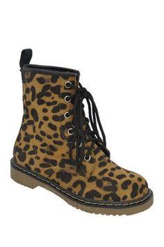 HauteLook | Yoki Kids: Welma Leopard Print Lace-Up Boot