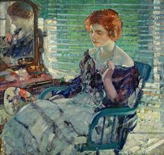 Richard Emile Miller, Seated Lady with Red Hair