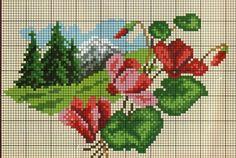 Cross Stitch Borders, Cross Stitch Flowers, Cross Stitch Charts, Cross Stitching, Cross Stitch Patterns, Vintage Cross Stitches, Bunny Art, Tapestry Crochet, Crafty
