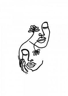 Minimalist art 240590805087240136 - I choose you by Nin Hol Minimalist Drawing, Minimalist Art, Tattoo Gesicht, Abstract Face Art, Abstract Art Tattoo, Line Art Tattoos, Easy Tattoos, Tattoo Drawings, Poster Prints