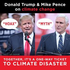 Trump, Pence and the Republicans - the Climate Change Deniers and Enablers of the ever more catastrophic sea level rises, submerged coastal areas and islands, super droughts, storms, hurricanes and floods to come!!