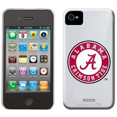 University of Alabama Crimson Tide Alabama design on iPhone 4 / 4S Snap-On case from Case Mate in White