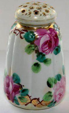 Beautiful Vintage Porcelain Gilt Sugar Shaker/Muffineer Or Hatpin Holder